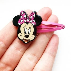 Sweet black & pink Minnie Mouse Girls' hair clip